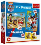 Puzzle 2v1 + pexeso Paw Patrol/Tlapková patrola