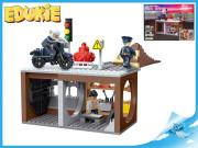 EDUKIE stavebnice policejní stanice s motorkou 222 ks + 3 figurky