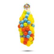 100 barevných plastových míčků v síťce - 6 cm