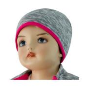 Dětská čepice David, Šedý melír + růžová, Esito