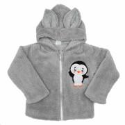 Zimní dětská mikina New Baby Penguin Šedá