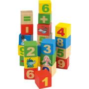 Dřevěné kostky 44 ks Čísla
