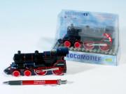 Lokomotiva kov 15cm na zpětné natažení se zvukem se světlem