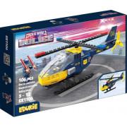EDUKIE stavebnice policejní vrtulník 106 ks + 2 figurky