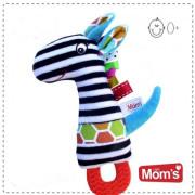 Edukační hračka s pískátkem, kousátkem Zebra Hencz Toys