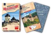 Kvarteto Hrady a zámky společenská hra karty 32 ks