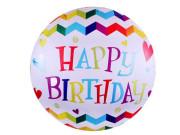Nafukovací balónek velký Happy Birthday