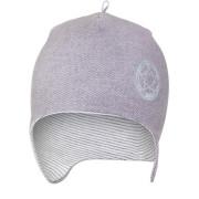 Čepice laponka podšitá JEANS Outlast ® - šedá/pruh bílošedý melír