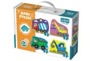 Puzzle baby Stavební Auta 4 ks