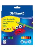 Pastelky Pelikan 12 barev trojhranné