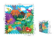 Puzzle pěnové podlahové - dinosauři 9 ks, 32 x 32 cm