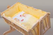 Souprava do kolébky Dráček- žlutá, 6ti dílná