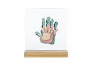 Family Prints Wooden Baby Art