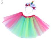 Karnevalový kostým - jednorožec multicolor