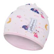 Čepice podšitá Outlast® - sv.růžová-tančící zvířátka/růžová baby