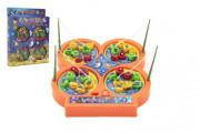 Magnetická hra ryby/rybář + pruty 4 ks na baterie