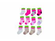 Kojenecké ponožky holka PD500, 0 - 6 měs. Pidilidi