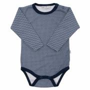 Body dlouhý rukáv Retrotisk Hvězdičky modrá Baby Service