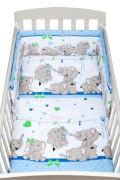 2-dílné ložní povlečení New Baby 100/135 cm modré se sloníky