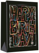 Dárková taška S - Happy Birthday 11,3 x 14,5 cm