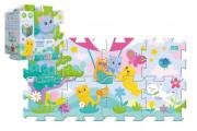 Pěnové puzzle 8ks Koťátka 32x32cm