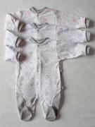 Overálek celorozepínací MEDVÍDEK Baby Service vel. 56 - 86