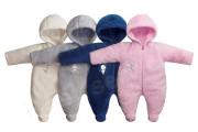 Kombinéza s kapucí na zip wellsoft výšivka Medvídek Růžová Baby Service