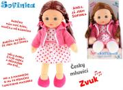 Panenka Sofinka 31cm česky mluvící tmavé vlásky
