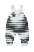 Bavlněné kalhoty baggy s laclem Pruhy Baby Service