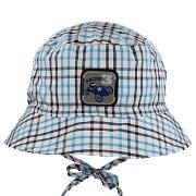 Chlapecký letní vázací klobouk káro s nášivkou RDX