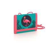 Dětská textilní peněženka Plameňák