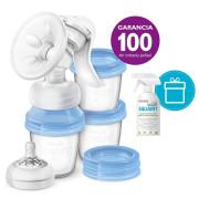 PHILIPS AVENT Odsávačka mateřského mléka Natural s VIA systémem + AQUAINT 500 ml ZDARMA