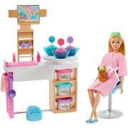 Barbie Salón krásy herní set s běloškou GJR84