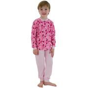Bavlněné pyžamo srdíčka malinová Esito