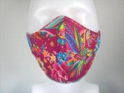 Látková respirační rouška - maska dámská jednovrstvá Fénix růžový