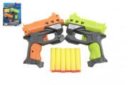 Pistole 2 ks 12 cm na pěnové náboje + 6 ks nabojů