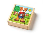 Puzzle šatní skříň Pejsek, 18 dílků
