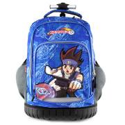 Školní batoh trolley Beyblade - 3D nášivka