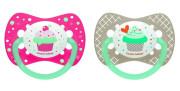 Šidítko silikonové symetrické 0-6m Cupcake Canpol