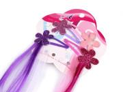 Pramínky do vlasů s pukačkou Květina