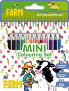 Mini blok s pastelkami - Farma