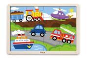 Dřevěné puzzle 16 dílků - doprava Viga