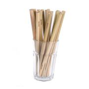 Bambusová brčka dlouhá - 20 ks