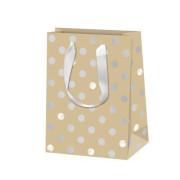 Vánoční dárková taška 16 x 22 cm Pure glam