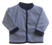 Kabátek oboustranný bez kapuce tmavě modré proužky MKcool