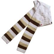 Dětské legíny Design Socks vel. 1 (12-24 měs) BÉŽOVÉ PROUŽKOVANÉ