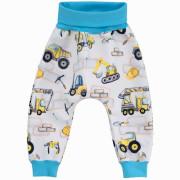 Dětské softshellové kalhoty Stavební stroje