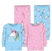 Pyžamo dívčí 2pack, Minoti Růžová/Modrá