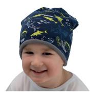 Zimní čepice spadená Shark Esito Modrá