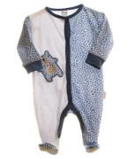 Kojenecký overal dlouhý rukáv/nohavice s medvídky modrá/bílá MKCool